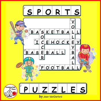 SPORTS WORDS   PUZZLES   CROSSWORDS   Early Finishers   Vo