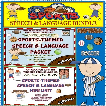 Speech Therapy: SPORTS-THEMED SPEECH, LANGUAGE & ARTICULAT