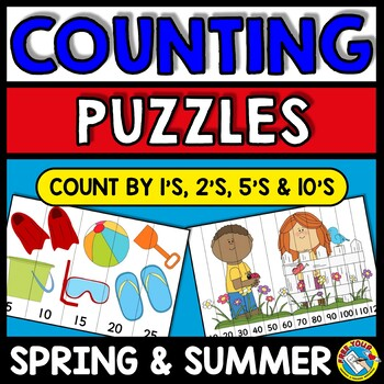 SPRING & SUMMER PUZZLES: DIFFERENTIATED COUNTING PUZZLES W