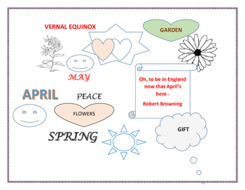SPRING COLORING PAGE #2