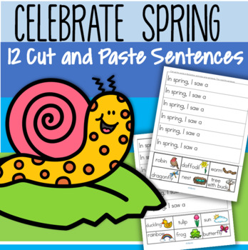 SPRING Cut and Paste Sentences FREE