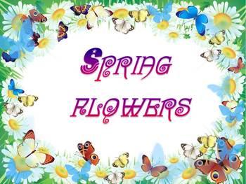 Spring Activities - Flowers - PowerPoint presentation