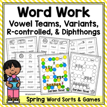 SPRING WORD WORK!  Word Sorts & Games - More Long Vowel Patterns