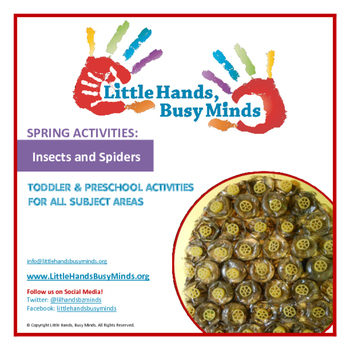 SPRING: Insects & Spiders Weekly Thematic Unit for Toddler