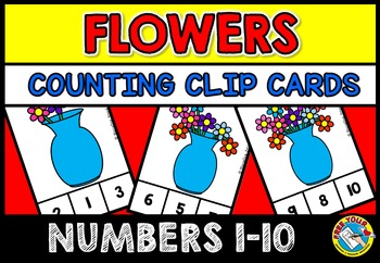 SPRING MATH CENTER: FLOWERS COUNTING CLIP CARDS: FLOWERS C