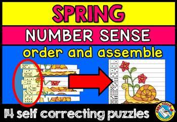 SPRING ACTIVITIES (SPRING KINDERGARTEN NUMBER SENSE PUZZLE