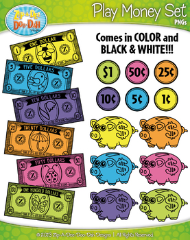 SPRING Playing Money Clipart Set — Includes 50 Graphics!