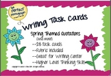 SPRING Quotations and More! Writing Task Cards with Planne