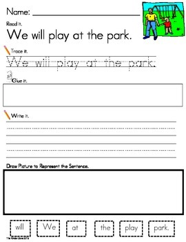 SPRING/ WEATHER PHONICS SENTENCE BUILDING **READ.TRACE.BUI