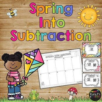 SPRING into Subtraction {A Scoot Math Station Game with QR Codes}