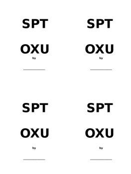 SPTOXU Writing Practice