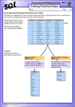 SQL Computational Thinking Exercises - Set 3
