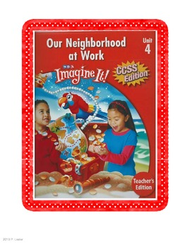 SRA Imagine It First Grade Unit 4 Game Cards