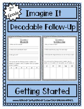 Imagine It Getting StartedDecodables Worksheets