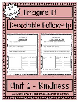 Imagine It Unit 1 Decodables Worksheets