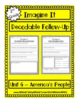 Imagine It Unit 6 Decodables Worksheets