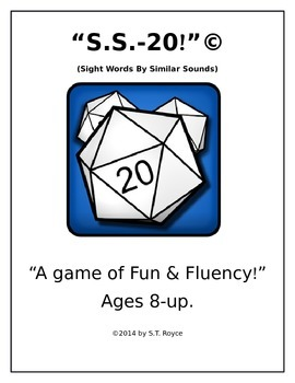 """S.S.-20!"" ""A Game of Fun & Fluency!"" (Sight Words by Simi"