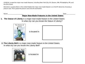 SS: Man Made Features in the United States (adapted for sp