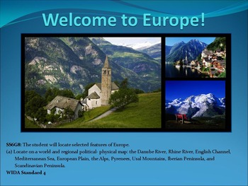 SS6G8ab Geography of Europe