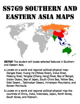 SS7G8 Southern and Eastern Asia Map Pack