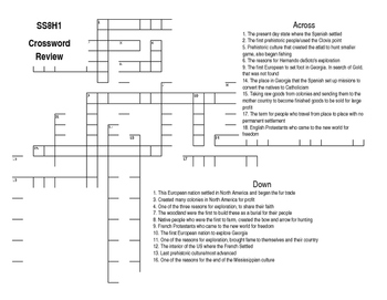 SS8H1 Crossword Puzzle