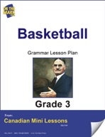 Basketball Writing and Grammar Lesson Gr. 3