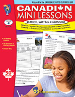 Canadian Mini Lessons - Reading, Writing, Grammar Grade 4