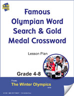Famous Olympian Word Search and Gold Medal Crossword Gr. 4