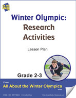 Winter Olympic Research Activities Gr. 2-3 Lesson Plan