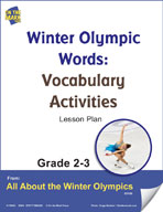 Winter Olympic Words - Vocabulary Activities Gr. 2-3 Lesson Plan