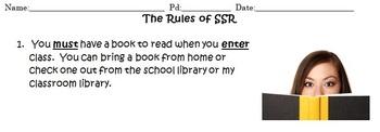 SSR/Independent Reading Starter Packet