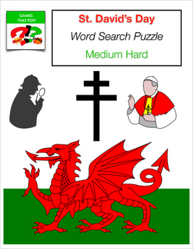 ST. DAVID'S DAY Wales Welsh Word Search Puzzle - Worksheet