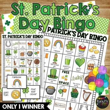 ST. PATRICK'S DAY BINGO {25 Different Bingo Cards}