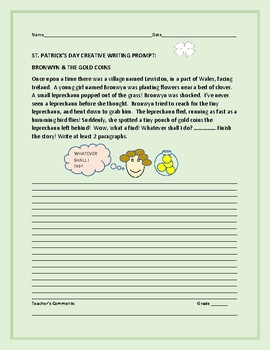 ST. PATRICK'S DAY CREATIVE WRITING PROMPT: BRONWYN & THE G