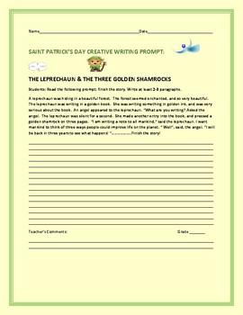 ST. PATRICK'S DAY CREATIVE WRITING PROMPT: THE LEPRECHAUN