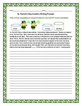 ST. PATRICK'S DAY CREATIVE WRITING PROMPT: THE SHAMROCK CO