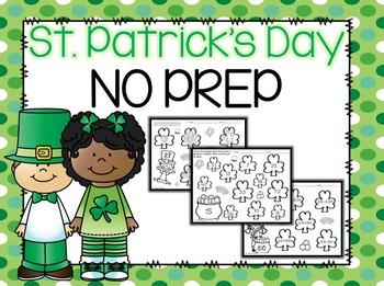 EDITABLE St. Patrick's Day Math NO PREP Printables
