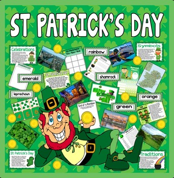ST PATRICK'S DAY TEACHING RESOURCES KS1-2 CELEBRATION TRAD