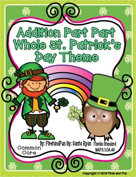 ST PATRICK'S DAY ADDITION PART PART WHOLE  MAT WORKSHEETS