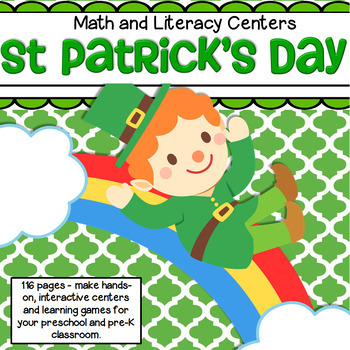 ST. PATRICK'S DAY Literacy and Numbers Centers and Activit