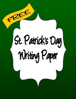 ST PATRICKS DAY WRITING PAPER