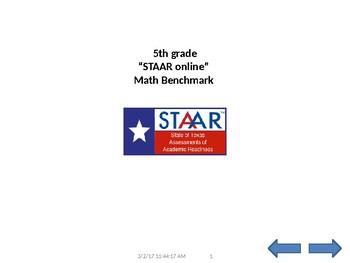 STAAR online format 5th grade MATH test to speech 58 Q & A