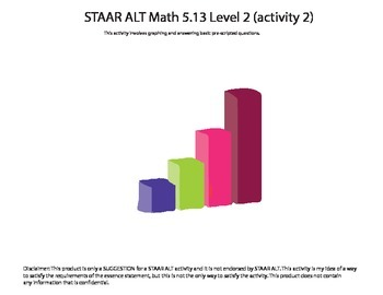 STAAR ALT 5th Grade MATH BUNDLE level 2--SUGGESTIONS!