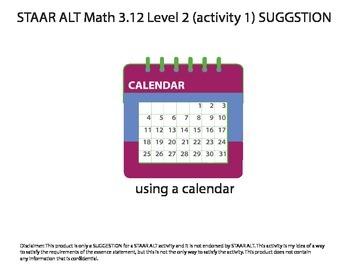 STAAR ALT MATH 3.12 Level 2 (activity 1) SUGGESTION