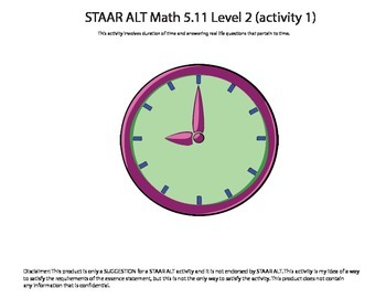 STAAR ALT Math 5.11 Level 2 (activity 1) SUGGESTION