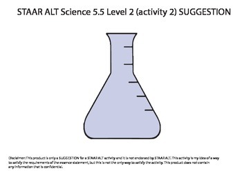 STAAR ALT SCIENCE 5.5 level 2 (activity 2) SUGGESTION