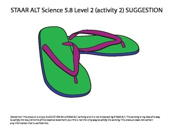 STAAR ALT SCIENCE 5.8 level 2 (activity 2) SUGGESTION