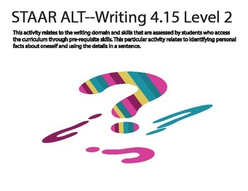 STAAR ALT WRITING 4.15 level 2 (activity 1)--answering aut
