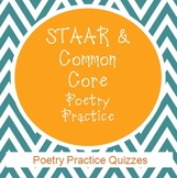 STAAR & Common Core Poetry Practice Quizzes