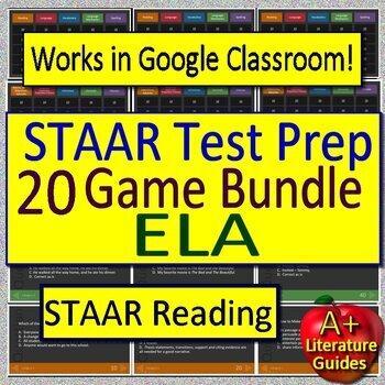 STAAR ELA Reading Review Game BUNDLE!